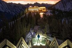 Banff-Gondola-stairway-sunrise-Nick-Fitzhardinge-FB