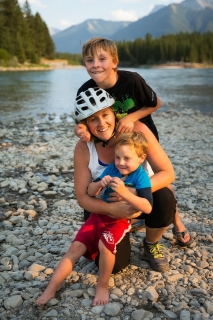 Canmore area family photo shoot