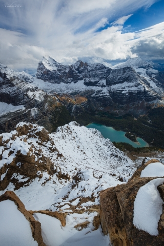 The summit of East Wiwaxy Peak, Yoho National Park, BC