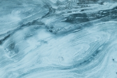 Aerial abstract of ice surrounding the Pelican Rapids on the Slave River, Alberta, Canada