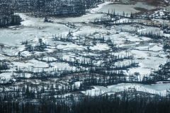 An aerial perspective of Wood Buffalo National Park, Alberta, Canada