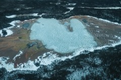 An aerial photograph of Grosbeak Lake, Wood Buffalo National Park, Alberta, Canada