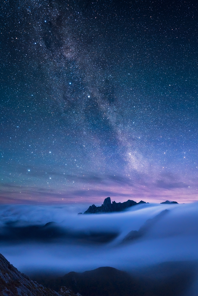 The Milky Way and Federation Peak collide in remote South West tasmanian wilderness, a vision of wilderness that cannot by replaced.